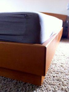 Фото кровати до перетяжки