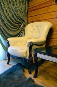 Кресло из кожи после перетяжки