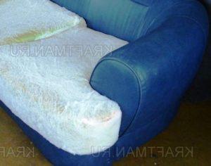 Пример дивана до перетяжки