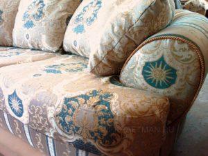 Пример дивана после перетяжки