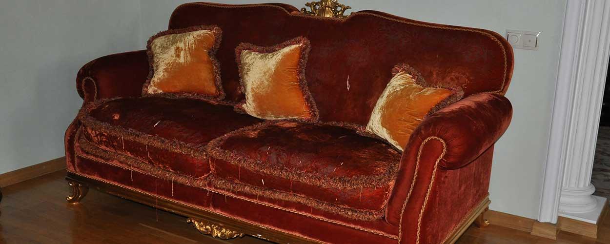 Перетяжка дивана до