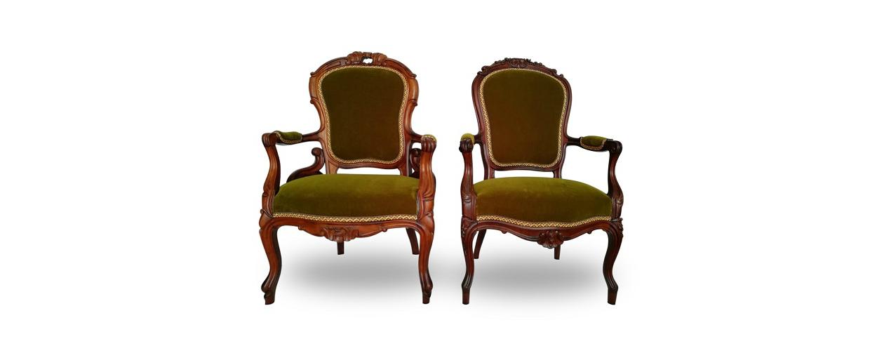 Пример перетяжки кресла после